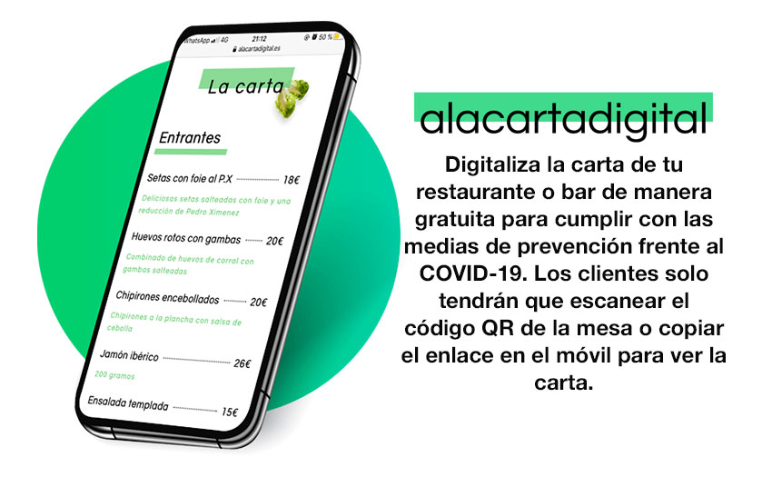 Carta digital a la carta