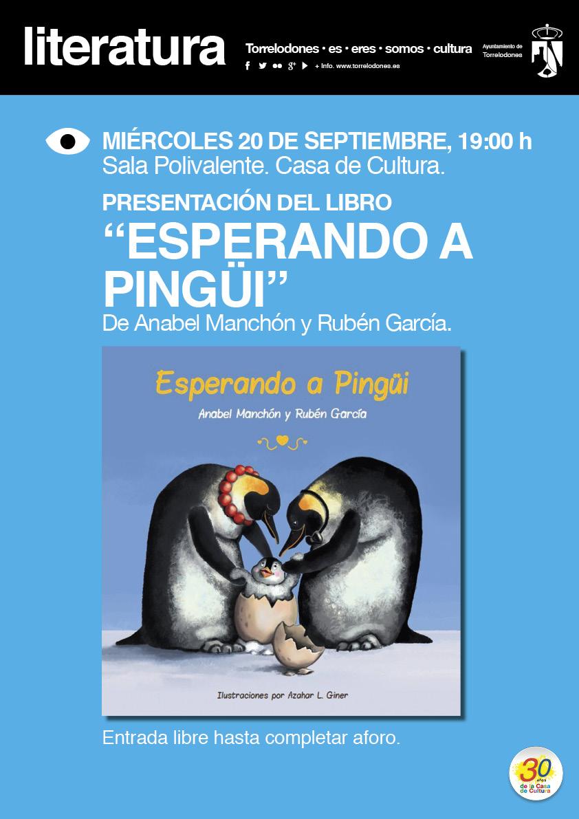 Cartel Presentacion libro Esperando a Pingui