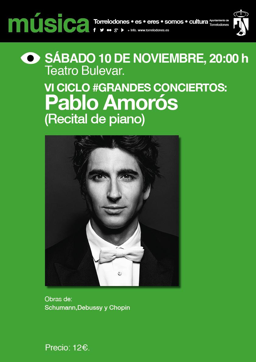 Cartel VI Ciclo Grandes Conciertos Pablo Amoros
