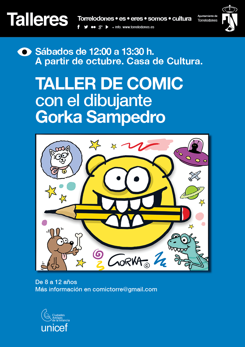 CARTEL TALLER COMIC OCTB18