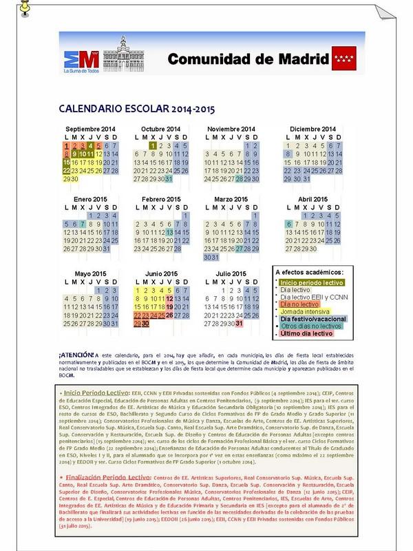 Calendario Escolar 2019 Madrid.Calendario Escolar Ayuntamiento De Torrelodones