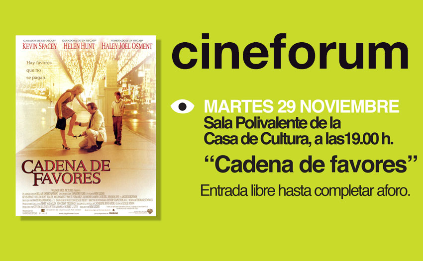 cineforum cadena de favores