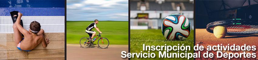 Inscripción servicio municipal de deportes