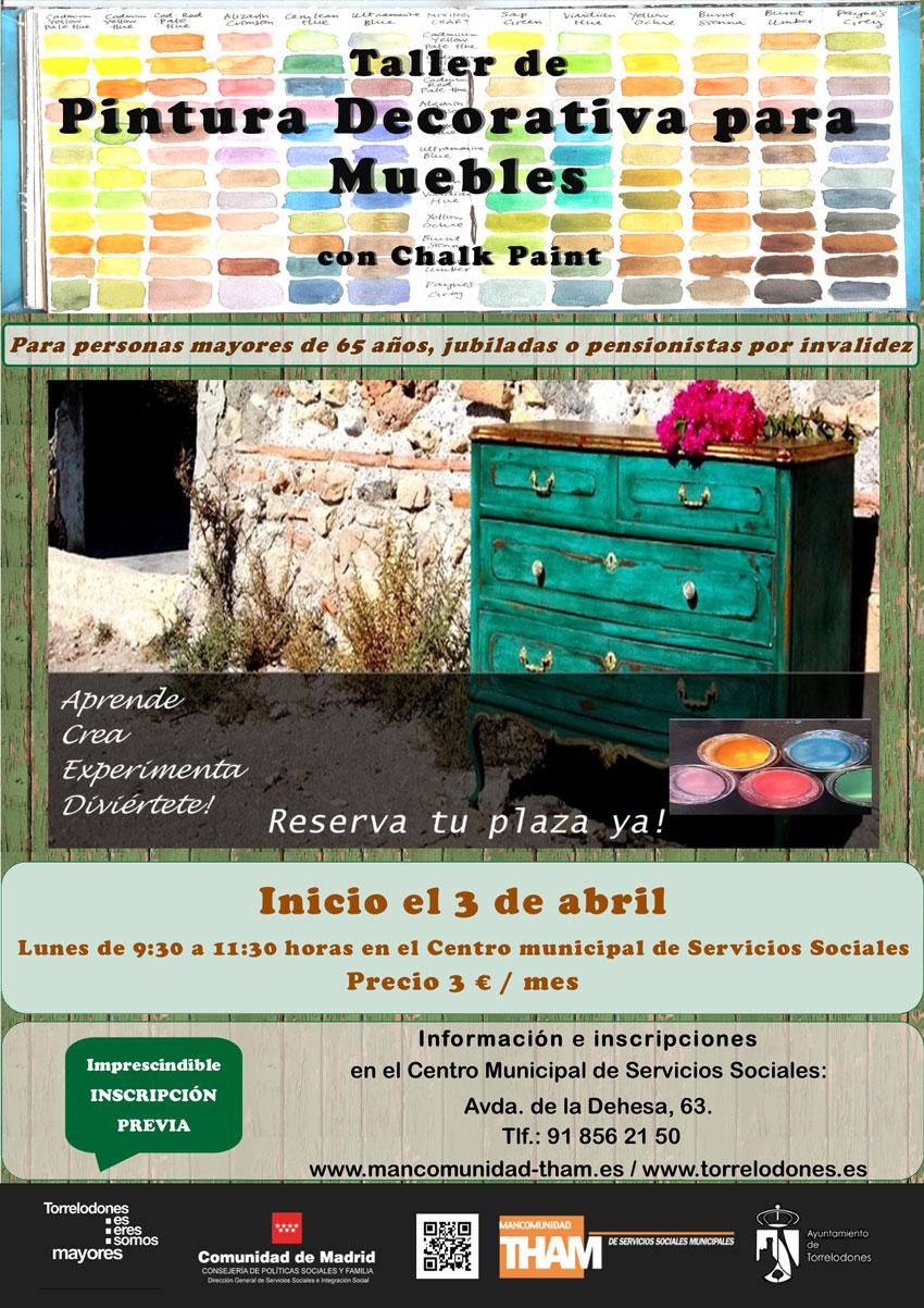 Actividades para abril del centro de servicios sociales for Pintura decorativa muebles